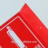 Best PVC Directional Fire Safety Warning Signs Luminous Stand Fire Extinguisher Sign wholesale