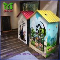 Best Environment friendly Children cardboard coloring house with grey back , grey paper wholesale