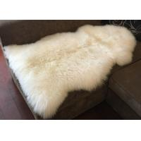 Best Real Long Merino Wool Fur Bed Throws Blankets With Custom Color / Size wholesale