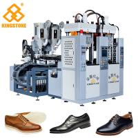 Best Men Leather Shoes Sole Injection Molding Machine , 2 Colors TPR Sole Making Machine wholesale