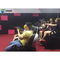 Best Interactive Shooting Game 7D Cinema Equipment Simulator Motion Seats With Cabin Box wholesale