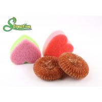 Best Safe Cleaning Steel Wire Copper Scouring Pads Mesh Design No Falling Broken Bits wholesale