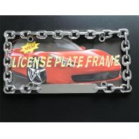 China Chain Style Vehicle License Plate Frames / Auto Plate Frames With Chrome Metal Finish on sale