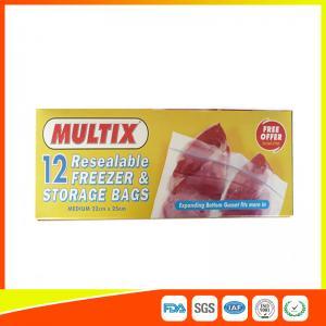 Best Supermarket Plastic Freezer Zip Lock Bags / Zip Seal Food Freezer Bags wholesale