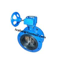 China DN300 Cast Iron Double Flanged Butterfly Valve on sale