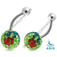 China Fancy Belly Piercing Jewelry / Belly Ring Jewelry Shiny Sparkling ADBN-0018 on sale