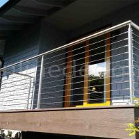 Cheap House Balcony Project 304 / 316 Stainless Steel Wire Cable Rail Outdoor Metal for sale