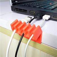 Best Orange Households Products Cable Drop Clip Plastic Cord Divider For USB Line wholesale