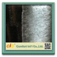 Best Brown / Grey Sofa Suede Fastcolours Artificial Fur Fabric with 70% Acrylic , 30% Polyester wholesale