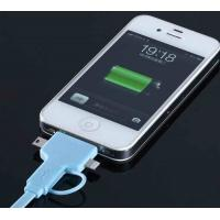 Best 4 Conductor IPhone USB Charger Cable Blue For IPOD Touch And Apple Iphone wholesale