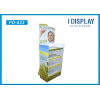 China Adjustable POP Cardboard Display , Corrugated Cosmetic Display Stand on sale
