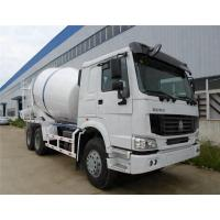 8L Concrete Construction Equipment / 9m3 Concrete Mixer Truck With Pump Self - Loading