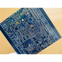 Best Blue PCB Built On FR-4 With 4 Layer Copper and Immersion Gold wholesale