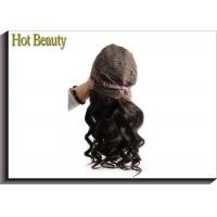 Best Front Lace Wigs Virgin Human Hair Natural Wave , Customized Human Hair Wigs wholesale