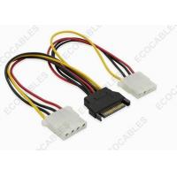 Best SATA 15 Pin Male To 4 Pin Molex Cable Assembly / Electronic Wire Harness wholesale