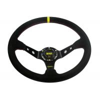 China Black Heated Steering Wheel Cover With Not Easy Peeling Breathable Fabrics on sale
