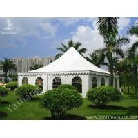 Best Recreation White PVC Fabric Cover High Peak Tents for Fun on Grassland wholesale