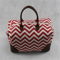 Buy cheap Trendy Portable Custom Canvas Tote Bags , Mummy Travel Bag With PU Handles from wholesalers