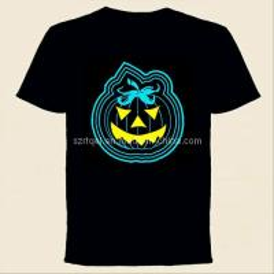 China Jack-O-Lantern Design EL Flashing T-Shirt on sale