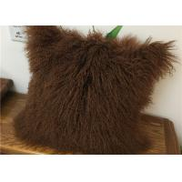 Best Customized Color / Size Mongolian Sheepskin Decorative Throw Pillow 10-15cm Wool wholesale