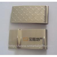 Best Premium quality stainless steel money clip with etched logo design for branding promotion, wholesale