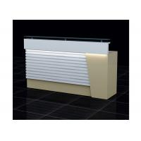 Best Wood  And Clear Glass Retail Checkout Counter LED Installed Interior 1500 * 500 * 1150mm wholesale