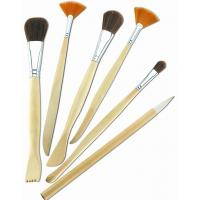 Best Synthetic & Wool & Mixture Hair Artist Painting Brushes Set Aluminium Ferrule Handle wholesale
