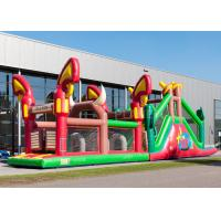 Best Reliably Blow Up Obstacle Course 17.0 X 3.6 X 4.7 M Fourfold Stitching wholesale