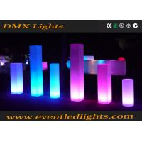 Multi-colors rechargeable Led Furniture decorative pillars flowers
