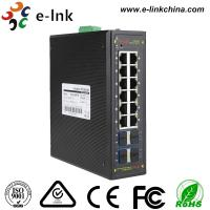 Best Managed Ring protocol 8-port 10/100/1000BASE-T + 4-port 10G SFP Ethernet Switch wholesale