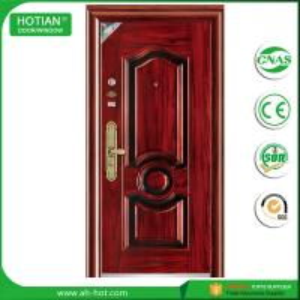Best New latest house iron factory main gate designs steel security door in metal skin wholesale