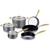China Wonderful Hard Anodized Aluminium cookware set/kitchenware set/pots and pans with glass lid on sale
