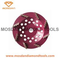 Best 6 Inch 150mm Cup Grinding Disc with 8 Zigzag Wave Diamond Segments wholesale