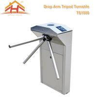 Best Biometric Drop Arm Tripod Turnstile Gate RFID Reader And SUS304 Stainless Steel wholesale