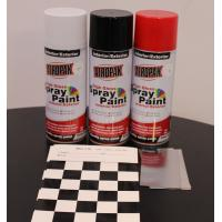 Best Weather Resistant Fast Dry Acrylic Spray Paint Black For Leather / Plastic wholesale
