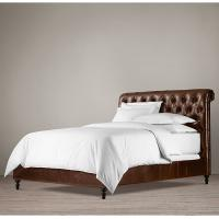 Details of high end king leather bed fully upholstered for High end king size bed