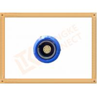 Best Blue Plastic Female Push Pull Circular Connectors / 10 Pin Circular Connector wholesale