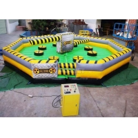 Best Meltdown Mechanical 8m Dia Total Wipeout Inflatable For Rotating Obstacles Games wholesale