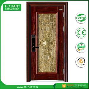 Best Steel Security Door with Galvanized Metal Handle Popular for Apartment Entrance Door wholesale