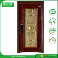 Best Steel Security Door with Galvanized Metal Handle Popular for Apartment Entrance Door wholesale