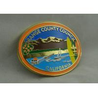 Best California Orange County Council Custom Made Buckles With Gold Plating And Soft Enamel wholesale