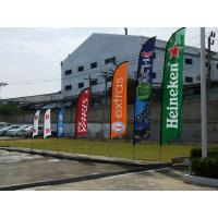 Best Custom Feather Flags Banner Printing , Decorative Flags For Outside Single Sided wholesale