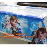 China Ice And Snow Baby Favor Decoration princess Party Tablecover Supply, Hot Sale party plastic tablecover supplies kids bir on sale