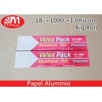 Best Recyclable Catering Aluminium Foil Roll 18In X 13 Micron X 1000Ft Size FDA Approval wholesale