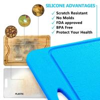 Best Not Moldy Big Size BPA Free Anti Slip Silicone Cutting Mat Of Size 36*25CM wholesale