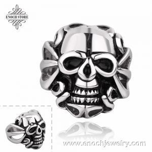 Best Popular Teens Gift Stainless Steel Vintage Skull Ring wholesale