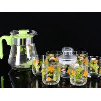 Best 860ml Glass Water Kettle Glass Teapot Set Of 6 PP Handle None Sleeve wholesale