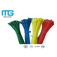 Best Custom Color Reusable Tie Wraps , Plastic Ties For Cables CE Approved wholesale