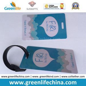 Best Hard PVC Logo Printed Promotional Luggage Tag W/Tape Loop wholesale