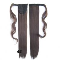 Best Soft Bond Long Synthetic Heat Resistant Hair Extensions Silky Straight 20 Inch wholesale